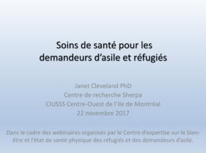 PowerPoint: L'accès aux soins de santé pour les réfugiés et les demandeurs d'asile