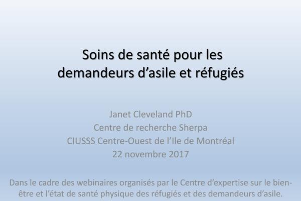 L'accès aux soins de santé pour les réfugiés et les demandeurs d'asile