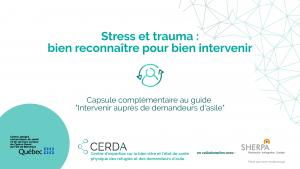 Stress et trauma : bien reconnaître pour bien intervenir