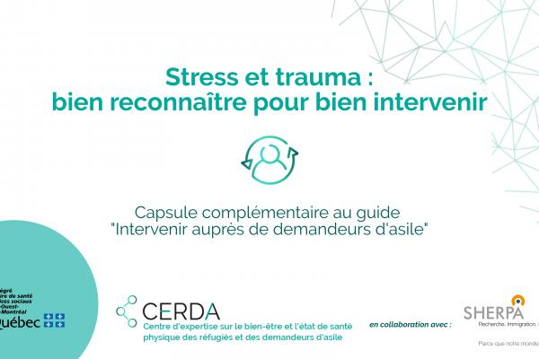 Stress et traumas : bien reconnaitre pour bien intervenir