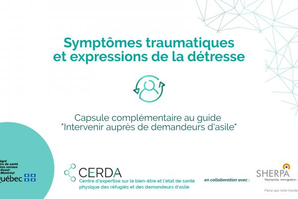 Symptômes traumatiques et expression de la détresse