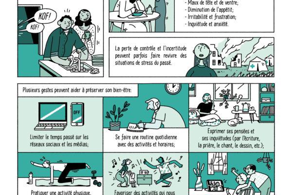 BD pour adultes : Coronavirus, mon bien-être en terre d'accueil