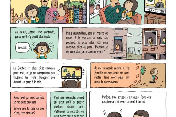 BD pour enfants : Coronavirus, mes émotions dans un nouveau pays