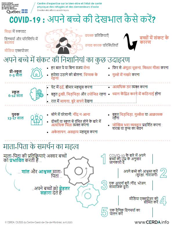 INFO - COVID-19 : comment prendre soin de mon enfant - Hindi