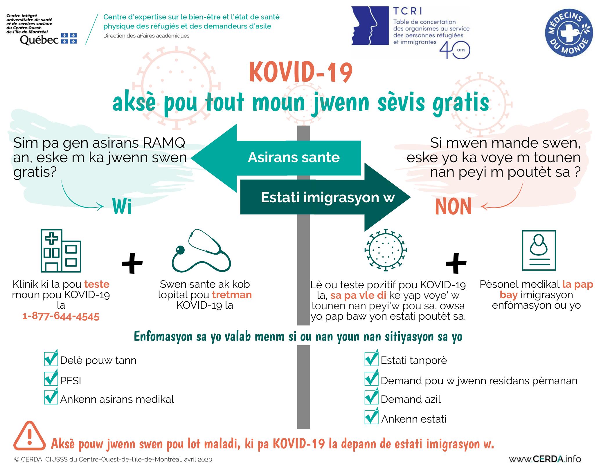 INFO - COVID-19 : Accès aux services sans frais et pour tous - Créole haïtien