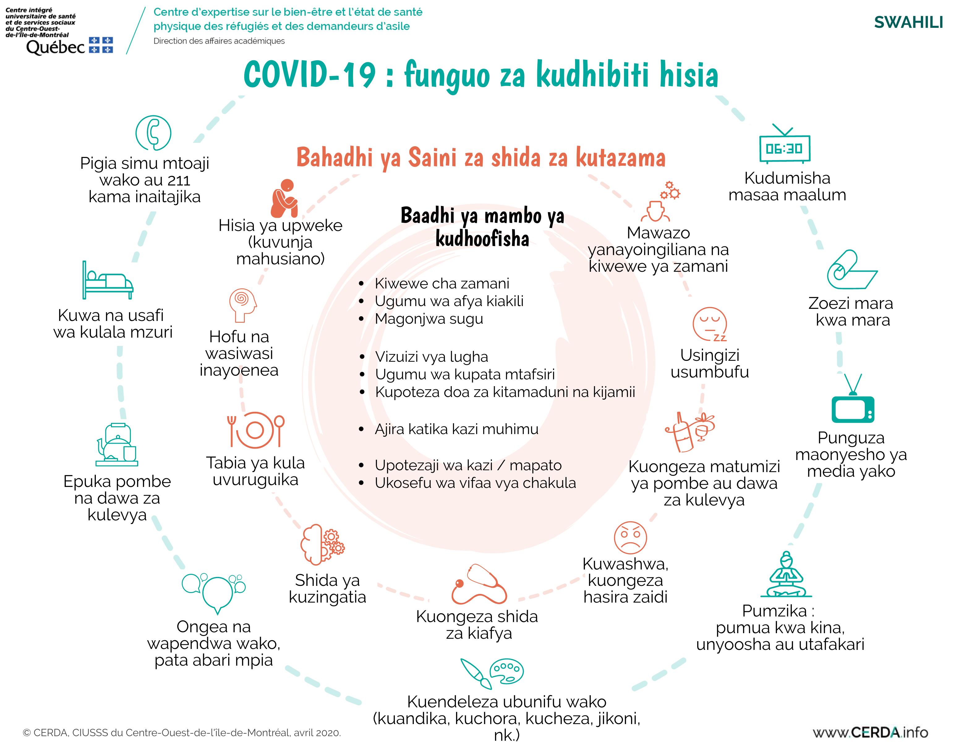 INFO - COVID-19 : des clés pour gérer ses émotions - Swahili