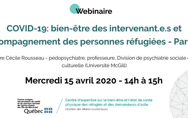 COVID-19: bien-être des intervenant.e.s et accompagnement des personnes réfugiées