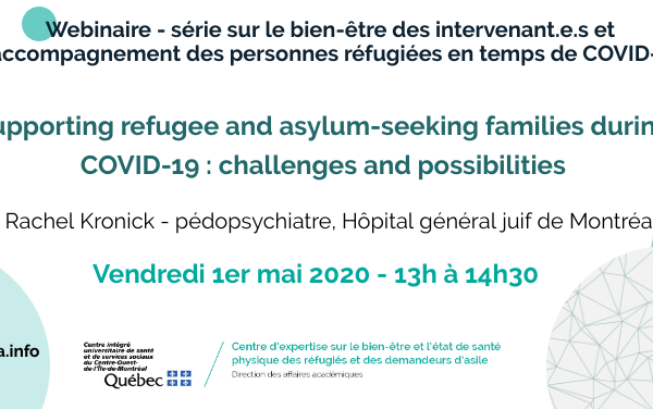 Supporting refugee and asylum seeking families during COVID-19: challenges and possibilities