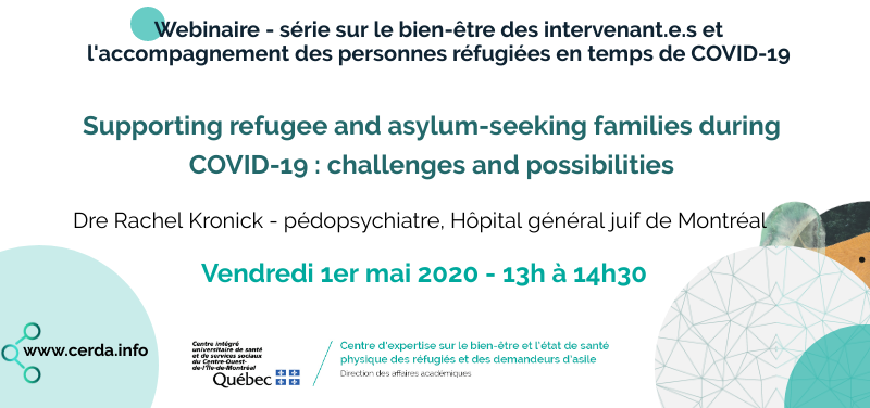 Webinaire - Supporting refugee and asylum-seeking families during COVID-19 : challenges and possibilities