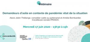 Webinaire - Demandeurs d'asile en contexte de pandémie: état de la situation