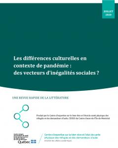 CERDA - Les différences culturelles en contexte de pandémie