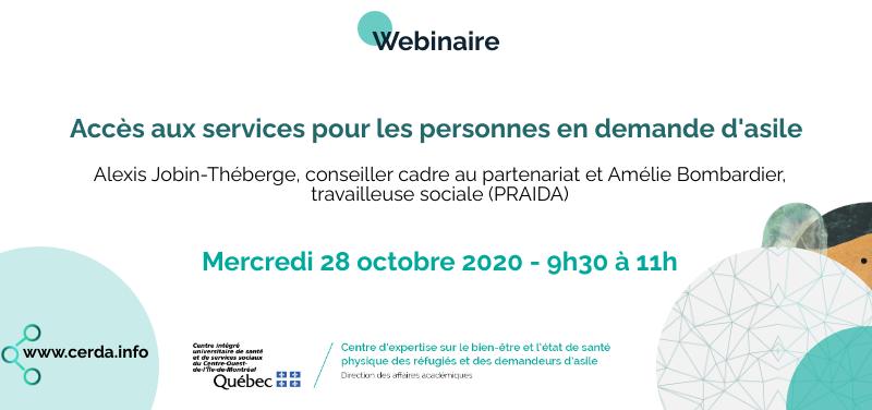 Image de promotion du Webinaire du 28 octobre 2020 - CERDA