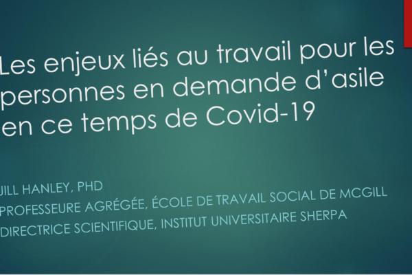 Enjeux liés à l'emploi pour les personnes en demande d'asile en temps de COVID-19